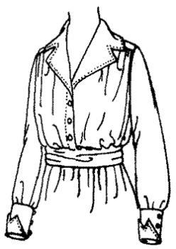 Patterns of Time 1917 Ladies' Waist, Titanic-WWI-1950's Retro