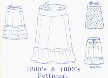 Patterns of Time 1880s-1890s Victorian Petticoat Pattern
