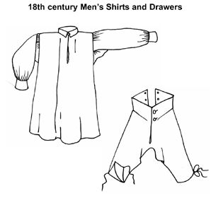 Patterns of Time 18th Century Men's Shirts & Drawers