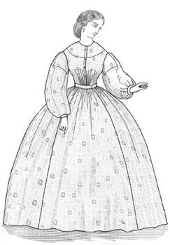 Patterns of Time 1863 Sheer Dress Pattern, Victorian