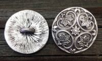 Patterns of Time Decorative Round Renaissance Pewter Shank ...