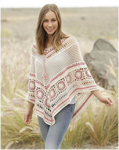 A Wistful Dream Poncho Free Crochet Pattern