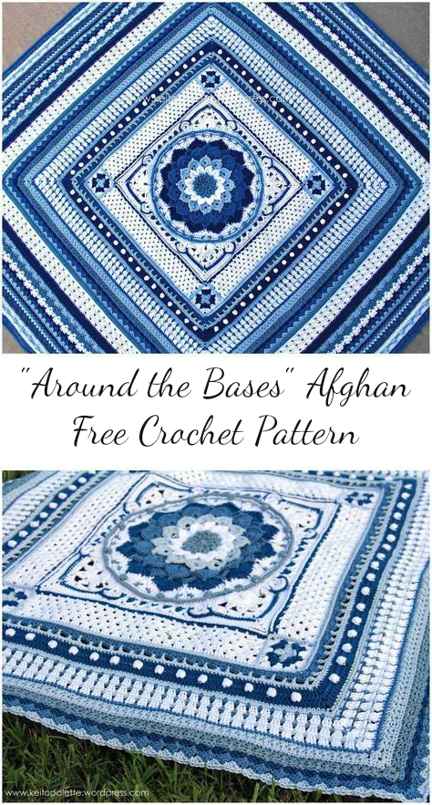 Around The Bases Afghan Free Crochet Pattern