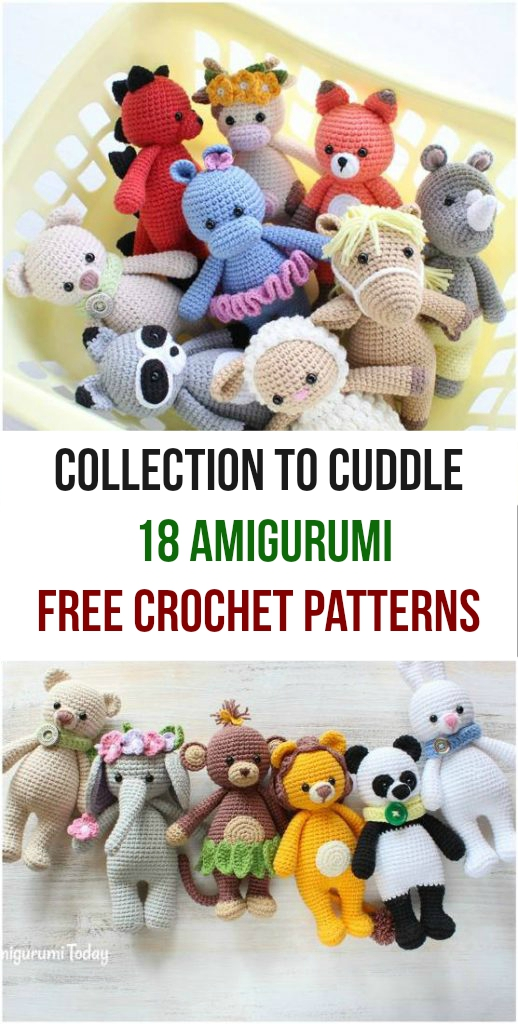 Collection to Cuddle 18 Amigurumi Free Crochet Patterns
