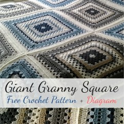 Crochet Granny Square Diagram Phase Change Of Water Free Pattern Giant