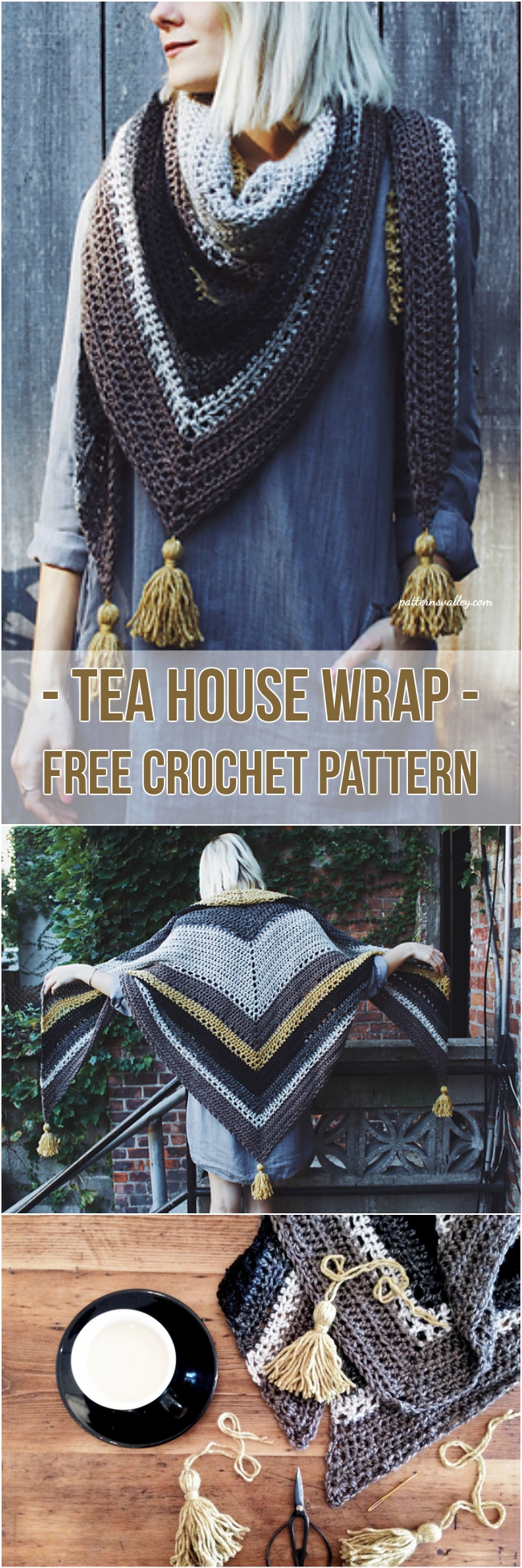 Tea House Wrap - Free Crochet Pattern