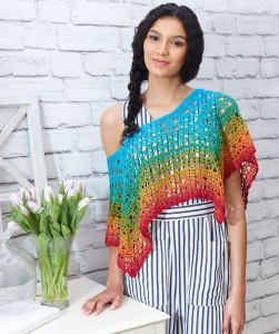 Fire And Ice Poncho - Free Crochet Pattern