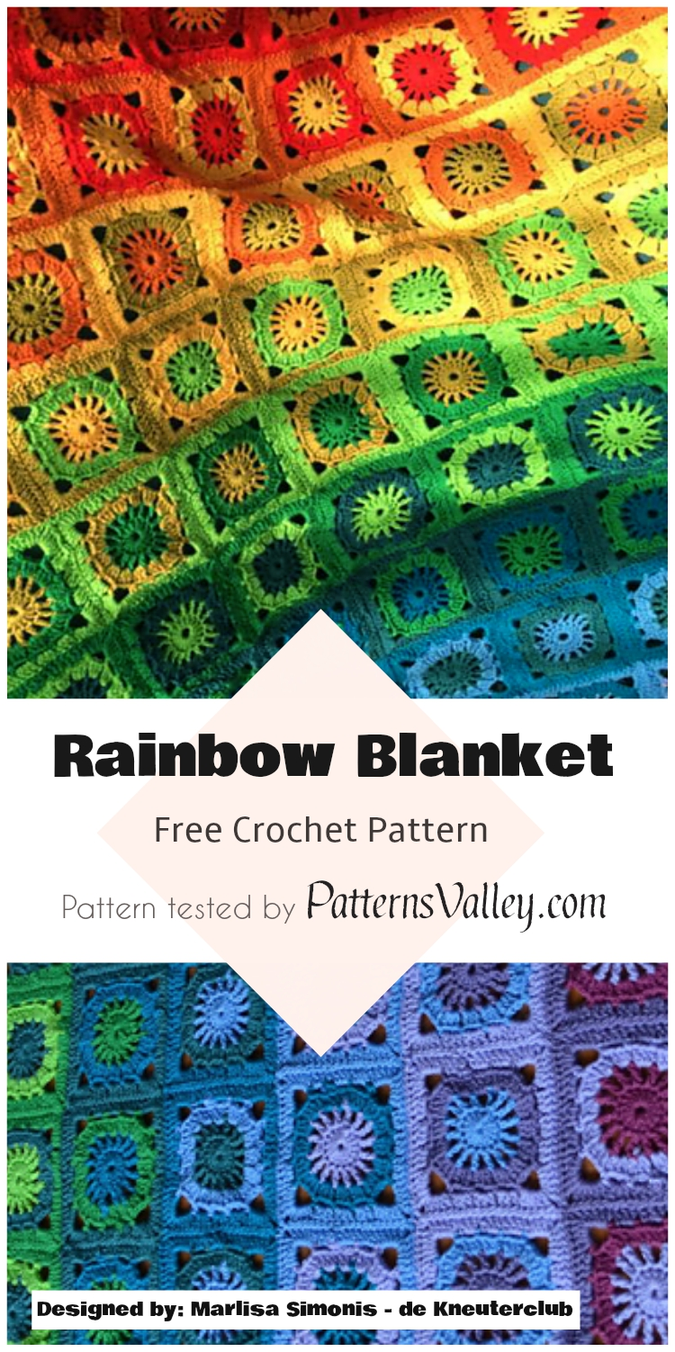 Rainbow Blanket - Free Crochet Pattern