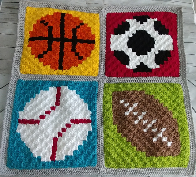 Adorable Crochet Sports Baby Blanket For Boy
