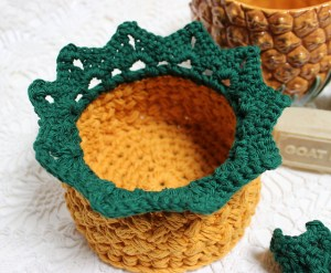 Welcome Home Pineapple Crochet Basket