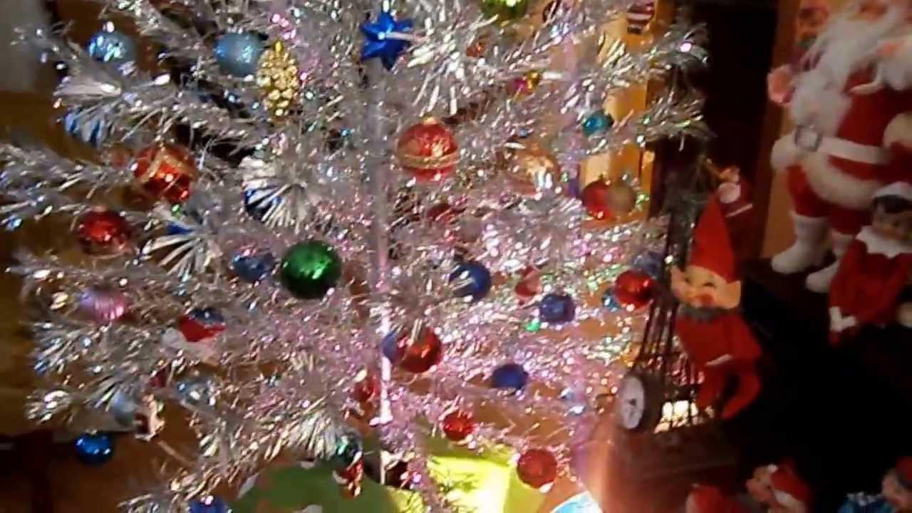 Old Fashioned Aluminum Christmas Tree Color Wheel