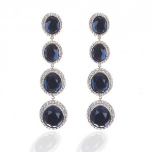 Je T'aime Circular Crystal Drop Earrings