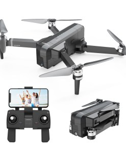 DEERC DE22 Foldable Drone with GPS 2K FPV Camera for Beginners Adults RC Quadcopter Drone with Brushless Motor 5G Wi-Fi Transmission