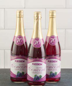 (Pack of 3) Kedem Sparkling Juice, Concord Grape, 25.4 fl oz