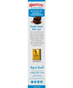 (2 Pack) Krusteaz Gluten Free Double Chocolate Brownie Mix, 20 oz Box