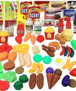 Click N' Play Play Food Set for Kids Pretend Play 120 Piece Set