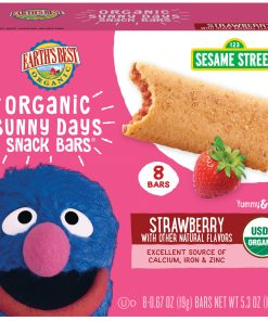 (3 Pack) Earth's Best Organic Sunny Day Toddler Snack Bars with Cereal Crust, Made With Real Strawberries – 8 Count