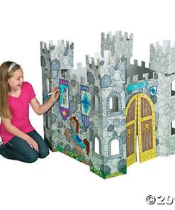 Color Your Own Castle Playhouse – Craft Kits – 1 Piece