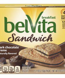 belVita Dark Chocolate Breakfast Biscuits, 5 Packs, 8.8 Oz.