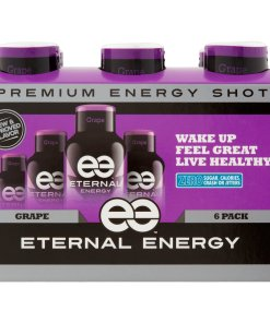 (12 Bottles) Eternal Energy Shot, Grape, 1.93 Fl Oz