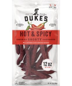 Dukes Smoked Shorty Sausages Hot & Spicy 12oz