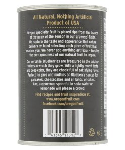 (2 Pack) Oregon Fruit All-Natural Blueberries in Light Syrup, 15 oz. Can