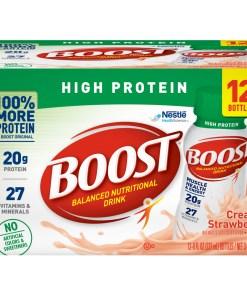 Boost High Protein Nutritional Drink, Creamy Strawberry, 8 Fl oz, 24CT