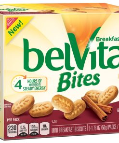 belVita Cinnamon Brown Sugar Mini Breakfast Biscuit Bites, 5 Packs