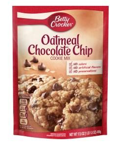 (2 Pack) Betty Crocker Oatmeal Chocolate Chip Cookie Mix, 17.5 oz