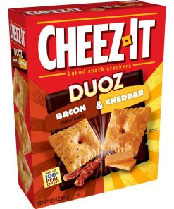 Cheez-It Baked Snack Cheese Crackers, Bacon & Cheddar, 12.4 Oz