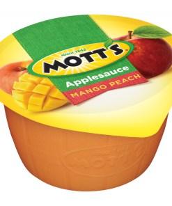 (2 Pack) Mott's Mango Peach Applesauce, 4 oz Cups, 6 Count