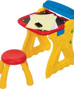 Crayola Play 'N Fold 2-in-1 Art Studio Easel Desk With Stool & Storage