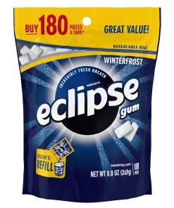 Eclipse Gum, Winterfrost, Sugar Free, 180 Piece Bag