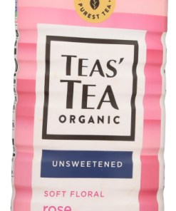 (12 Pack) Teas' Tea Unsweetened Tea Rose Green, 16.9 Fl. Oz.