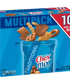 Chex Mix Snack Mix, Traditional, 1.75 oz Bags, 10 Count