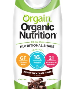 Orgain Organic Nutrition Shake, Chocolate, 16g Protein, 12 Ct