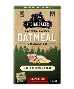 Kodiak Cakes, Protein Packed Instant Oatmeal, Maple & Brown Sugar, 12g Protein, 6 Packets