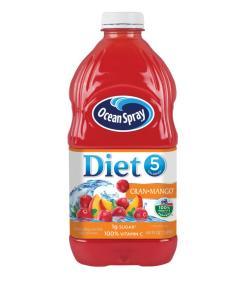 (2 pack) Ocean Spray Diet Juice, Cran-Mango, 64 Fl Oz, 1 Count