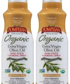 (2 Pack) Pompeian Organic Extra Virgin Olive Oil Cook Spray, 5.0 FL OZ