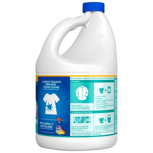 Clorox Splash-Less Liquid Bleach, Clean Linen (Concentrated Formula) – 117 Ounce