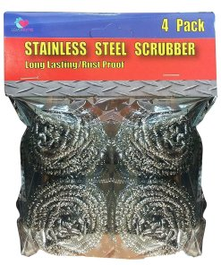 Stainless Steel Grill Pan Cast Iron Scrubber Sponges 4 Pack