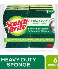 Scotch-Brite Heavy Duty Scrub Sponge, 6 Count