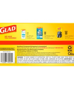 Glad Tall Kitchen Trash Bags, 13 Gallon, 80 Bags (ForceFlex, Unscented)