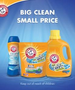 Arm & Hammer OxiClean Fresh Scent Liquid Laundry Detergent, 224 oz