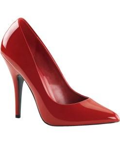 5 Inch Sexy High Heel Shoe Women's Dress Shoes Classic Pump Shoes Red Patent