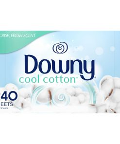 Downy Fabric Softener Dryer Sheets, Cool Cotton Scent, 240 Count