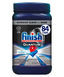 Finish Quantum 84ct with Activblu Technology, Dishwasher Detergent Tabs, Ultimate Clean and Shine
