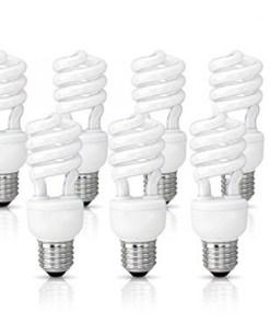 (10 Pack) Circle 13 Watt (60 Watt) Compact Fluorescent Light, Cool White 4100K, Mini Spiral Medium Base CFL Light Bulbs
