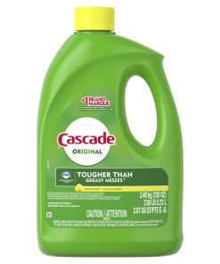 Cascade Gel Dishwasher Detergent, Lemon Scent, 120 Fl Oz