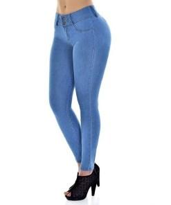 Women Stretch Skinny Bodycon Demin Pants High Waist Slim Jeans Pants